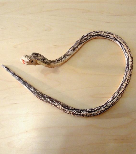 Змея деревянная своими руками 10